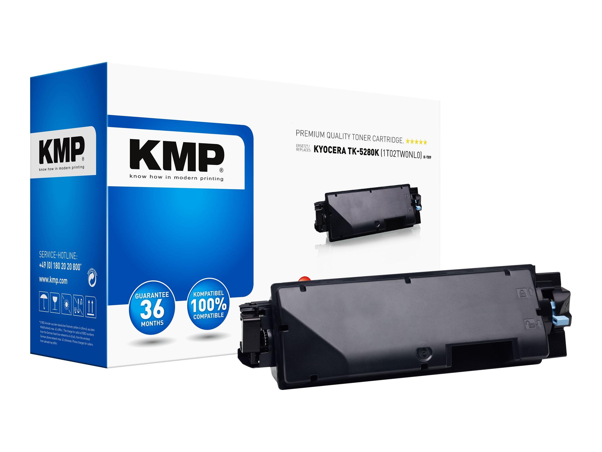 Vorschau: KMP K-T89 - 295 g - Hohe Ergiebigkeit - Schwarz - kompatibel - Tonerpatrone (Alternative zu: Kyocera TK-5280K)
