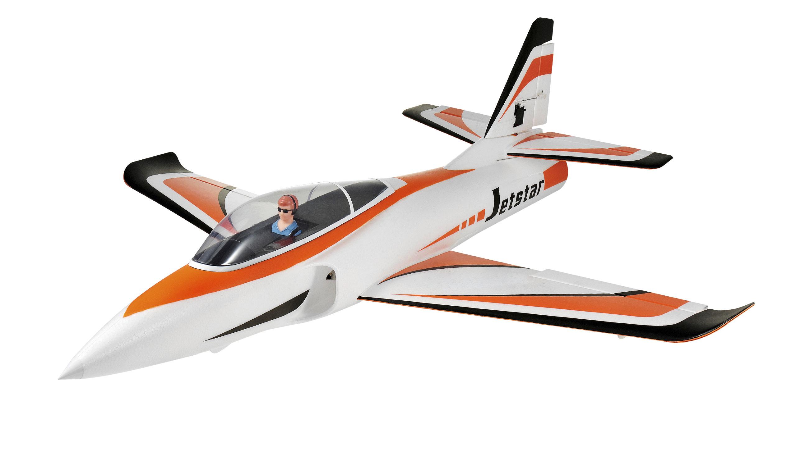 Vorschau: Amewi JetStar V2 - Funkgesteuertes (RC) Kampfflugzeug - Plug-N-Play(PNP) - Schwarz - Orange - Weiß - Elektromotor - Junge - Bürstenlos