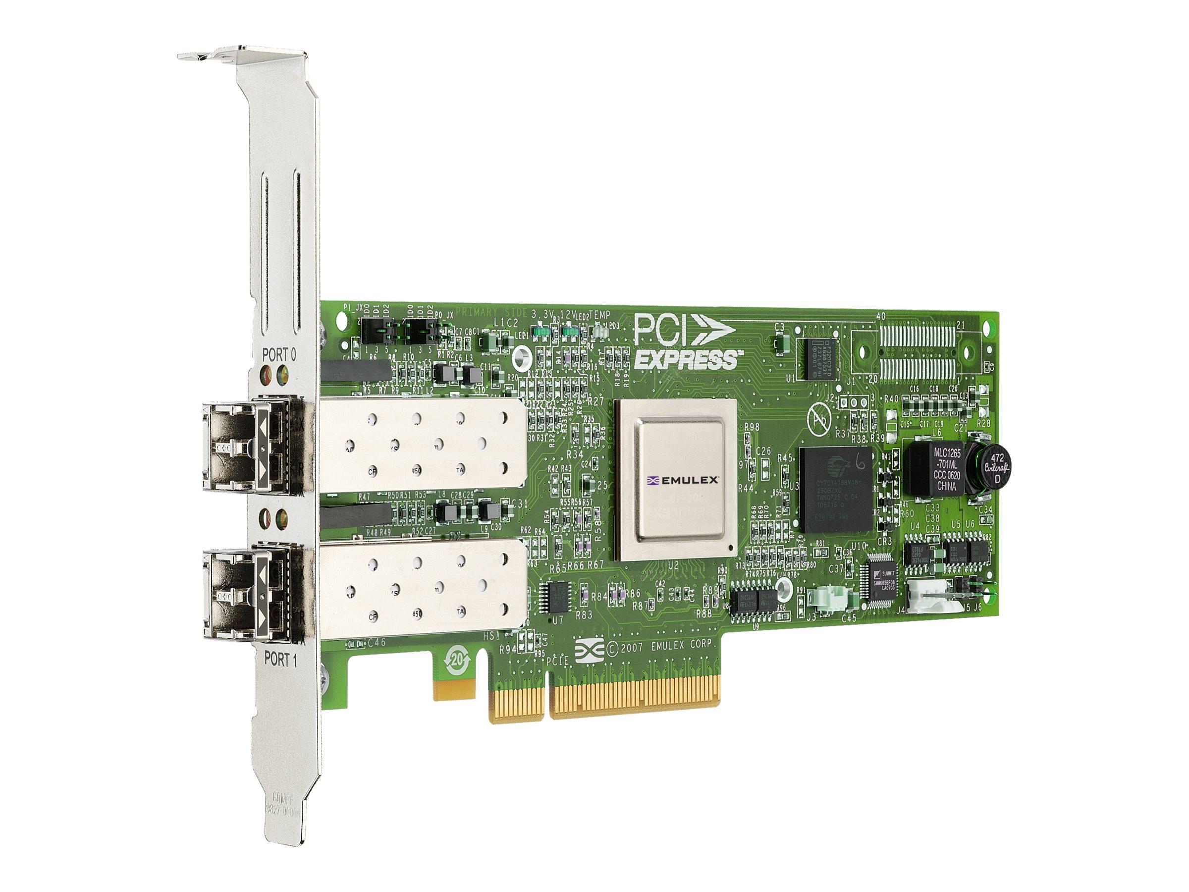 Lenovo Emulex HBA 8Gbit PCI-E FC Dual Port (42D0494) - REFURB