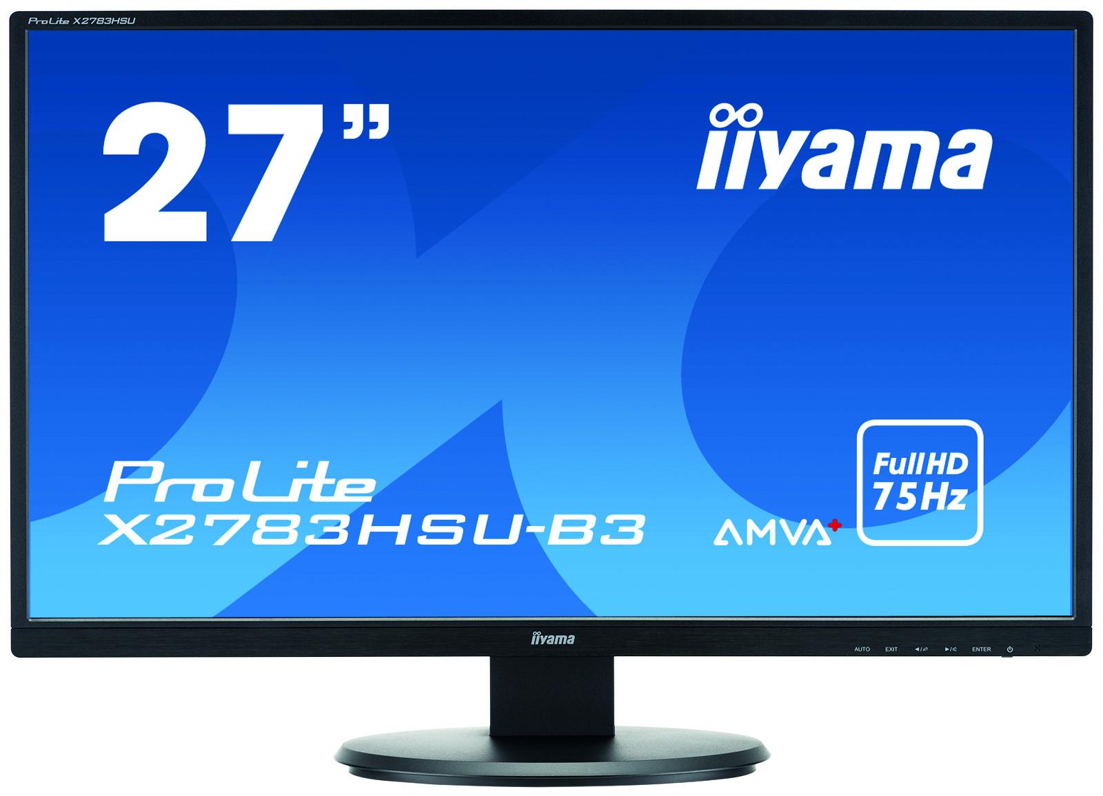 Iiyama ProLite X2783HSU-B3 - 68,6 cm (27 Zoll) - 1920 x 1080 Pixel - Full HD - LED - 4 ms - Schwarz
