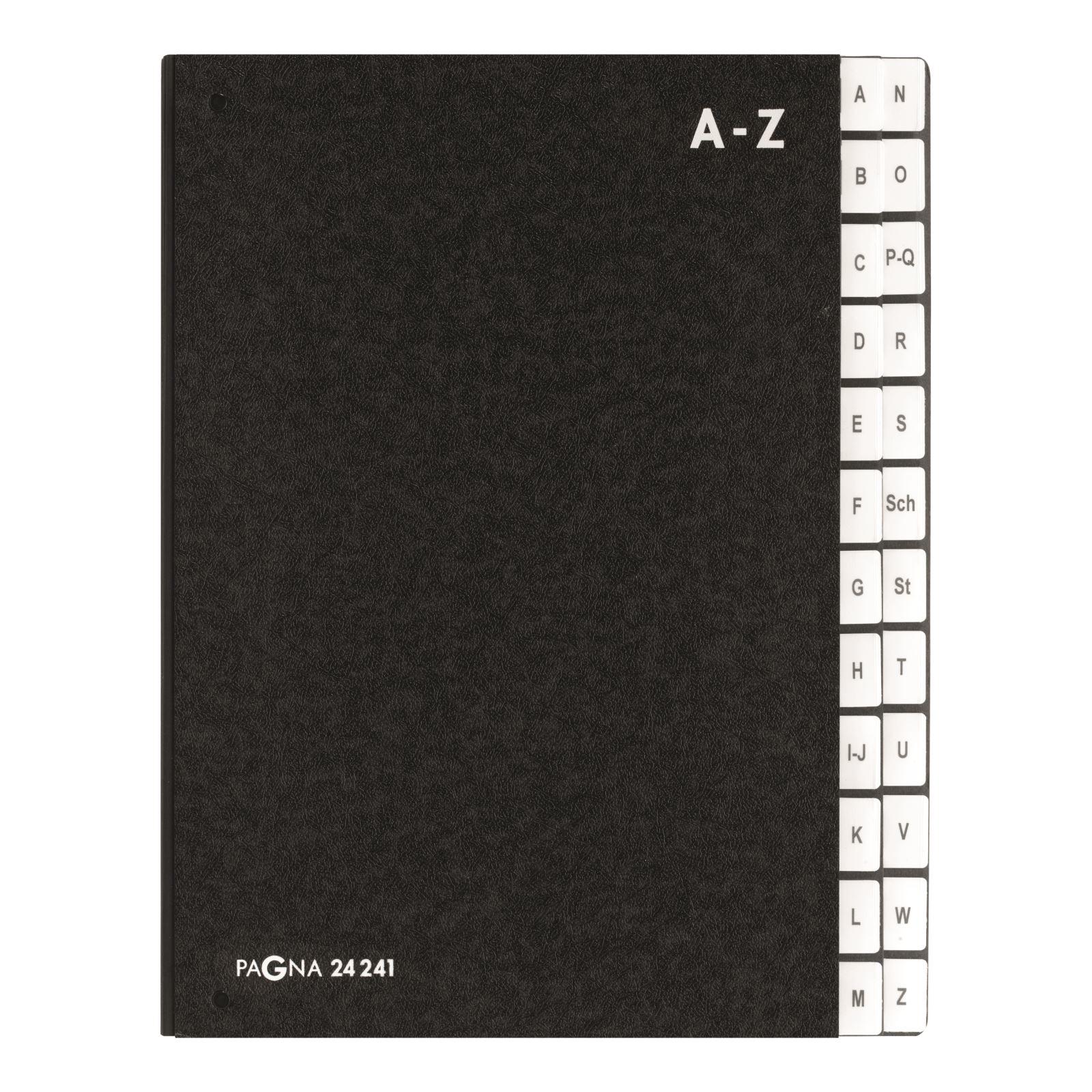 Pagna Pultordner Classic 24 Fächer - A4 - Schwarz - Porträt