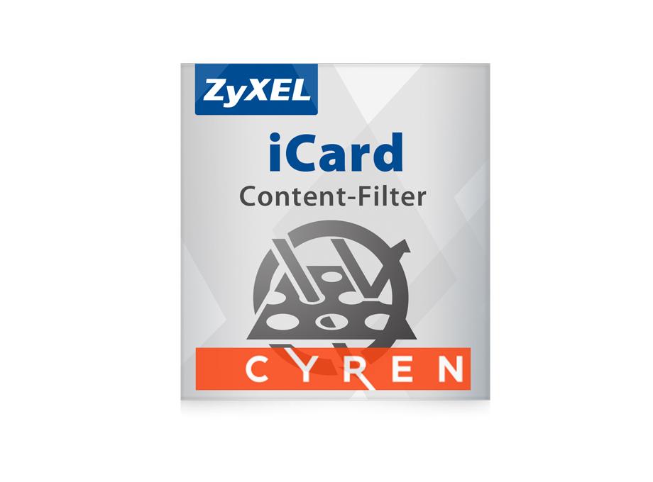 ZyXEL iCard Cyren CF 1Y - Abonnement-Lizenz - Datenbanken, Datenauswertungs- und Reporting-Tools, Firewall/Security - Nur Lizenz