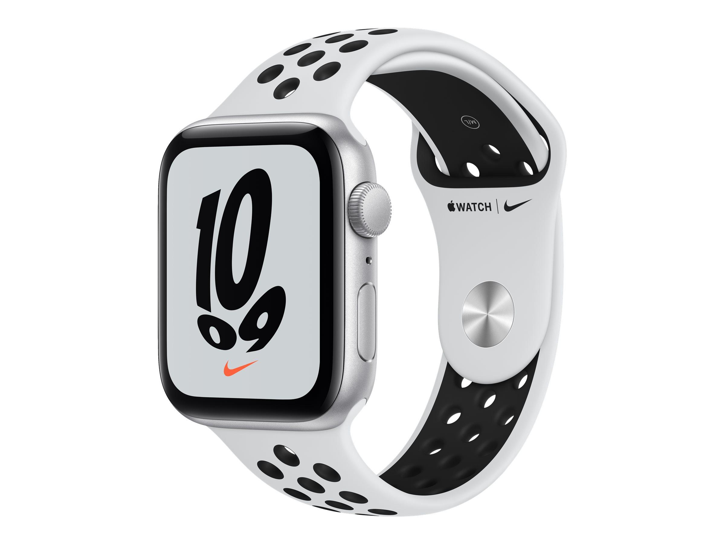 Apple Watch Nike SE (GPS) - 44 mm - Aluminium, Silber