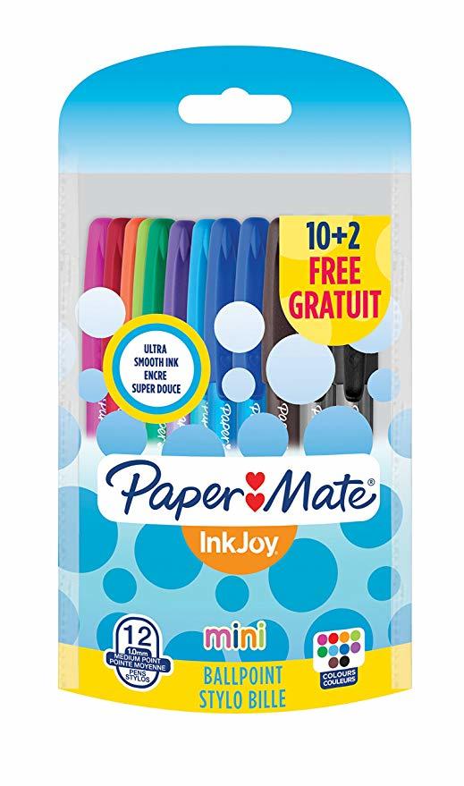 Paper Mate InkJoy Mini ST - Clip - Stick-Kugelschreiber - Mehrfarbig - 12 Stück(e) - Medium