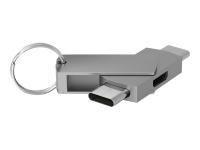 272986 Kabelschnittstellen-/adapter USB Type-C USB Type-C - Micro-USB Silber