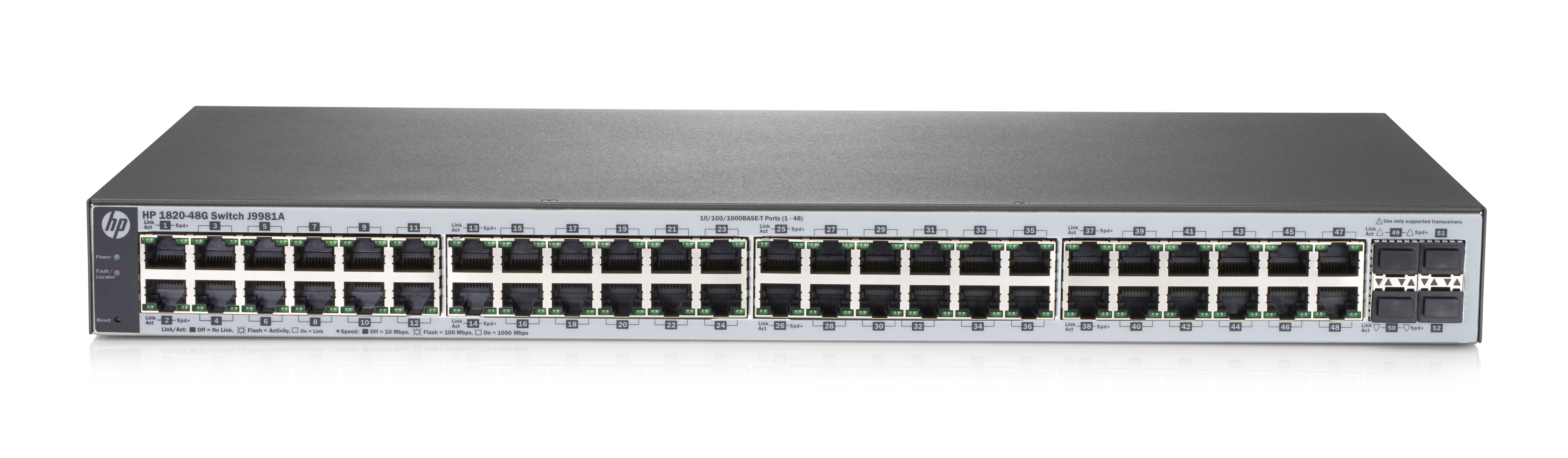 HP Enterprise 182048G Managed L2 Gigabit Ethernet (10/100/1000) Full duplex Rack mounting 1U