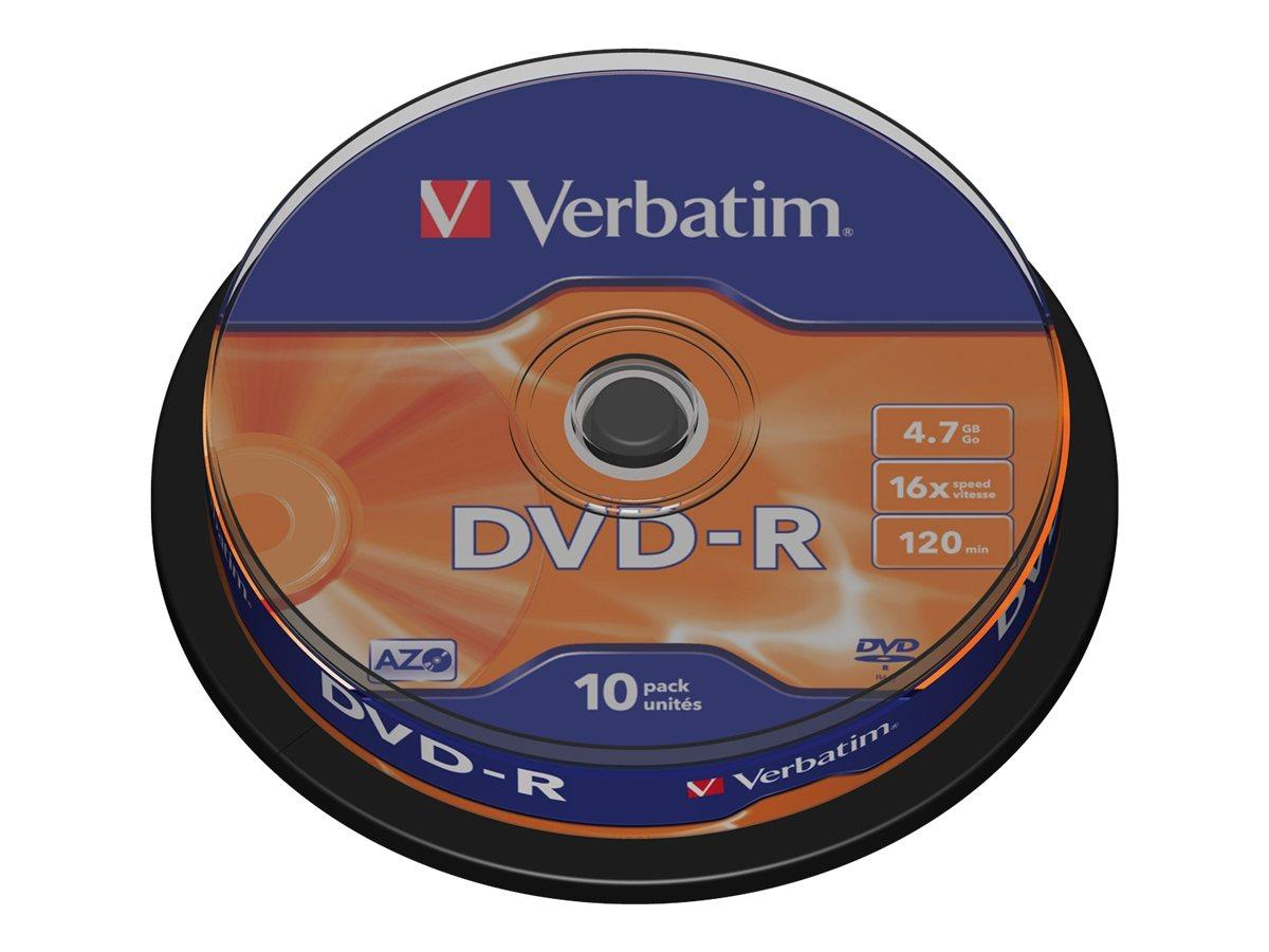 Verbatim 10 x DVD-R - 4.7 GB 16x - mattsilber