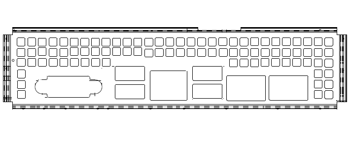Vorschau: Chenbro I/O GASKET Intel S2600ST w/Conductive Sponge