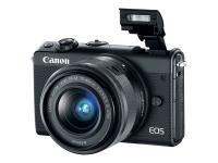 EOS M100 SLR-Kamera-Set 24.2MP CMOS 6000 x 4000Pixel Schwarz