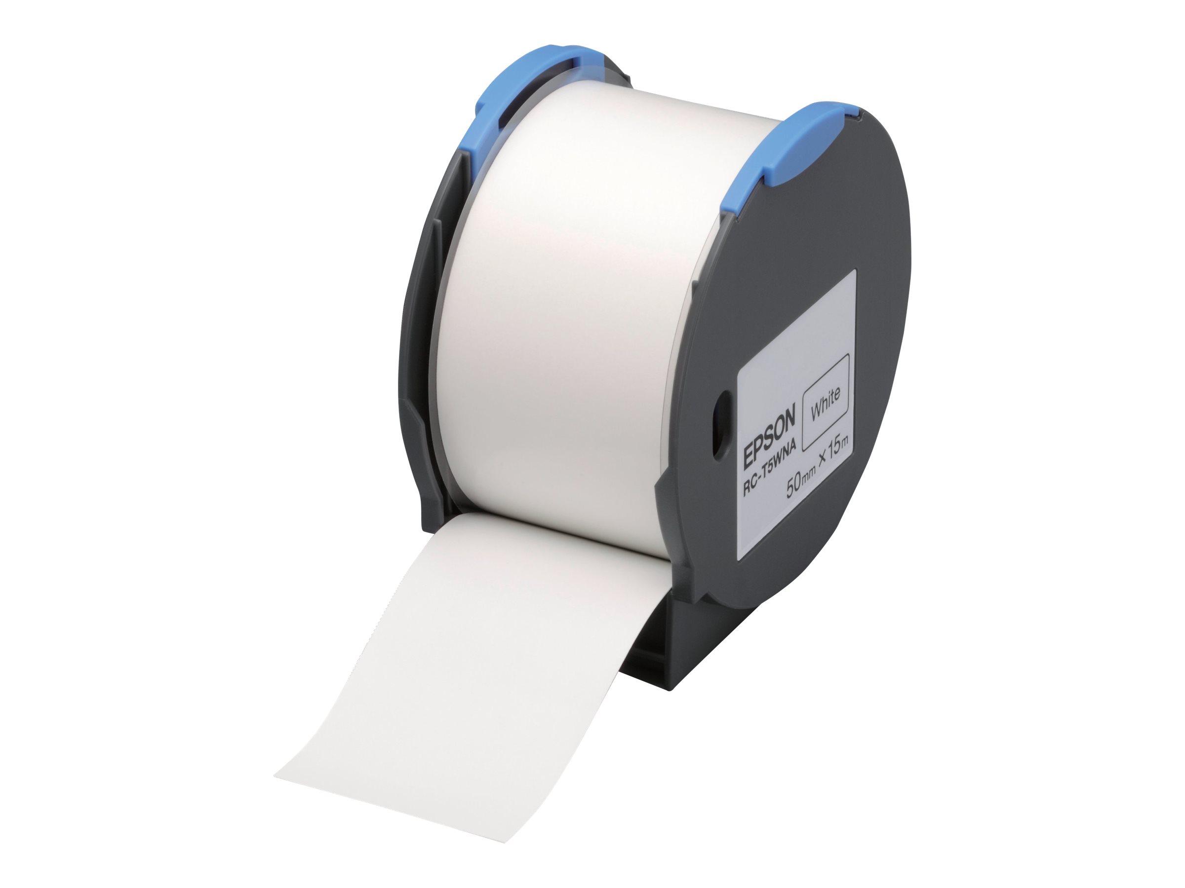 Epson RC-T5WNA - Polyolefin - selbstklebend - weiß - Rolle (5 cm x 15 m)