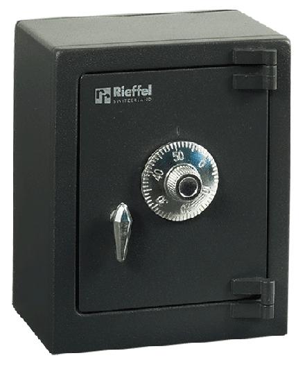 Rieffel MY FIRST SAFE - Anthrazit - Silber - Zahlenschloss - Stahl - Geld - 110 mm - 80 mm