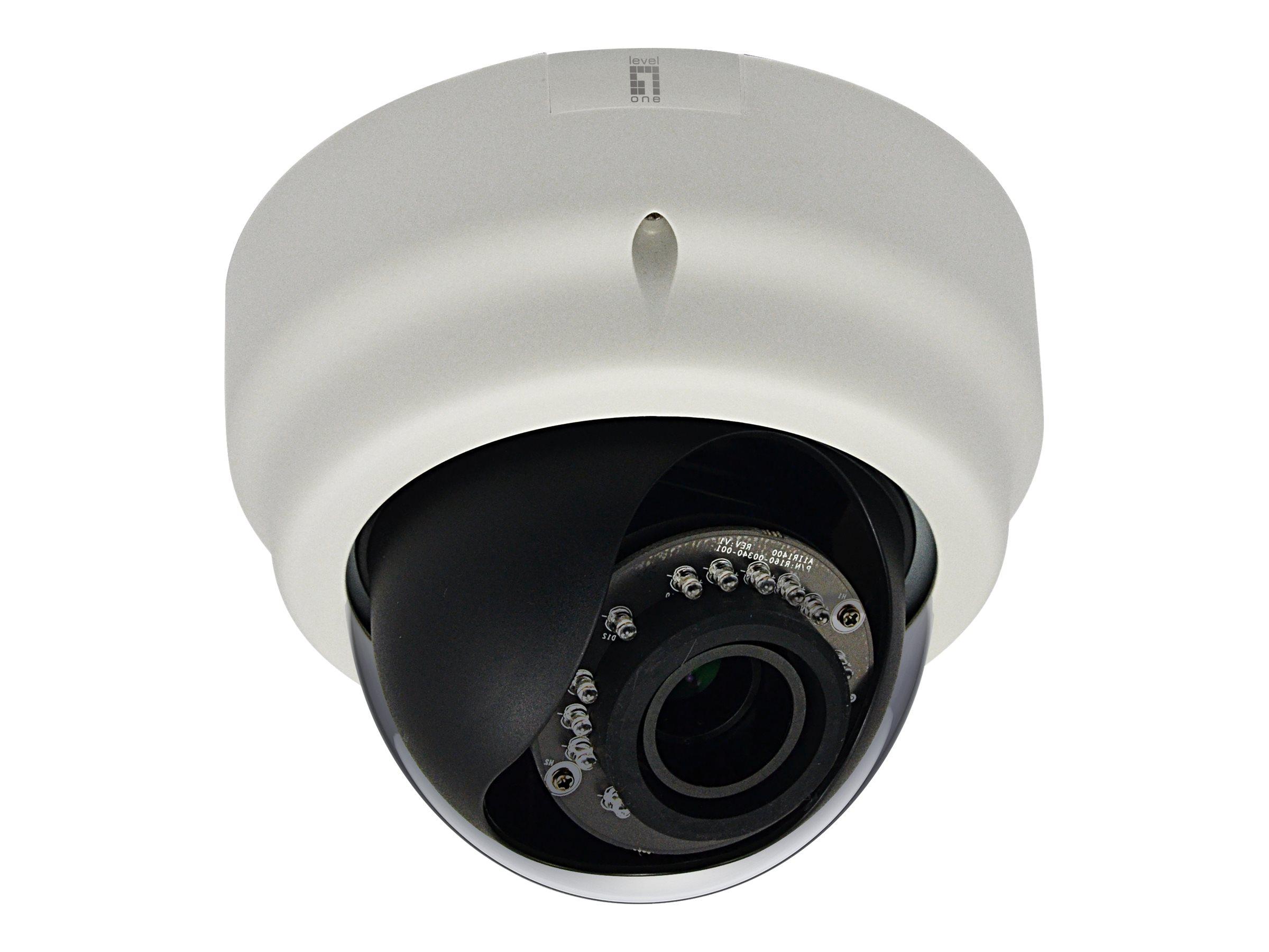 LevelOne FCS-3056 - Netzwerk-Überwachungskamera - Kuppel - vandalismusgeschützt - Farbe (Tag&Nacht)