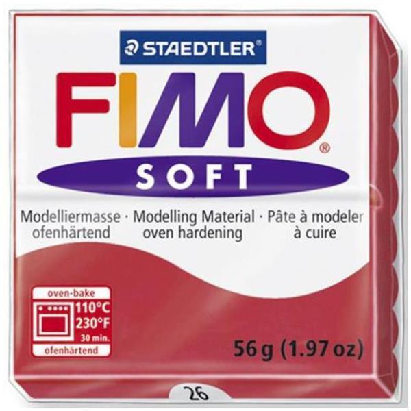 Vorschau: STAEDTLER FIMO soft - Knetmasse - Rot - 110 °C - 30 min - 56 g - 55 mm