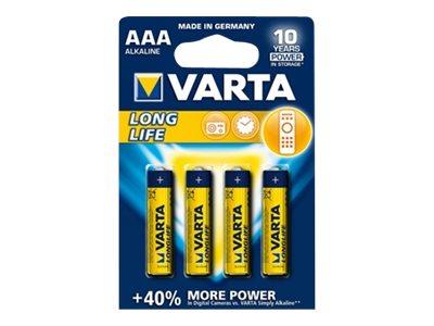 Varta Longlife - Batterie 4 x AAA-Typ - Alkalisch