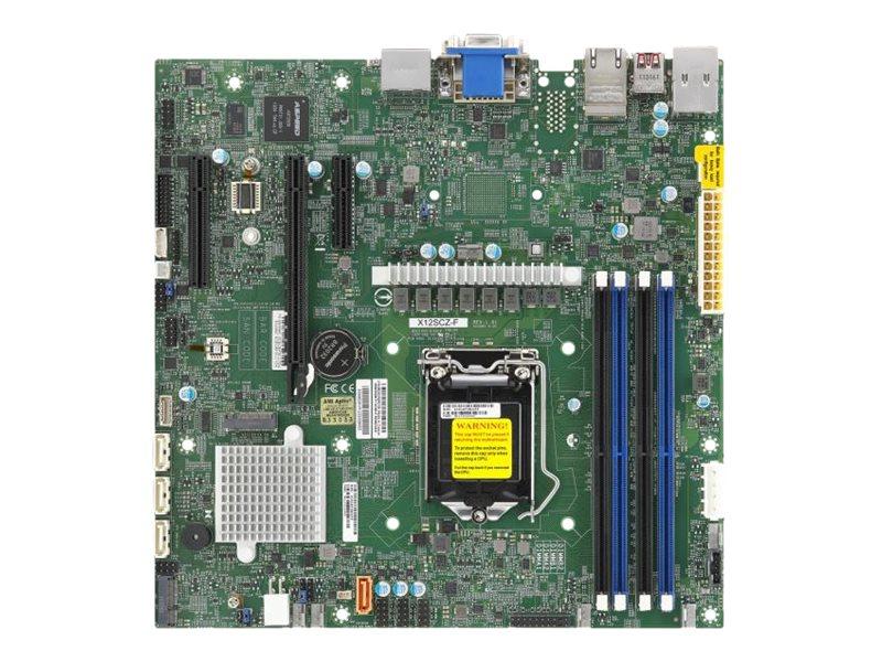 Supermicro X12SCZ-F - Motherboard - micro ATX