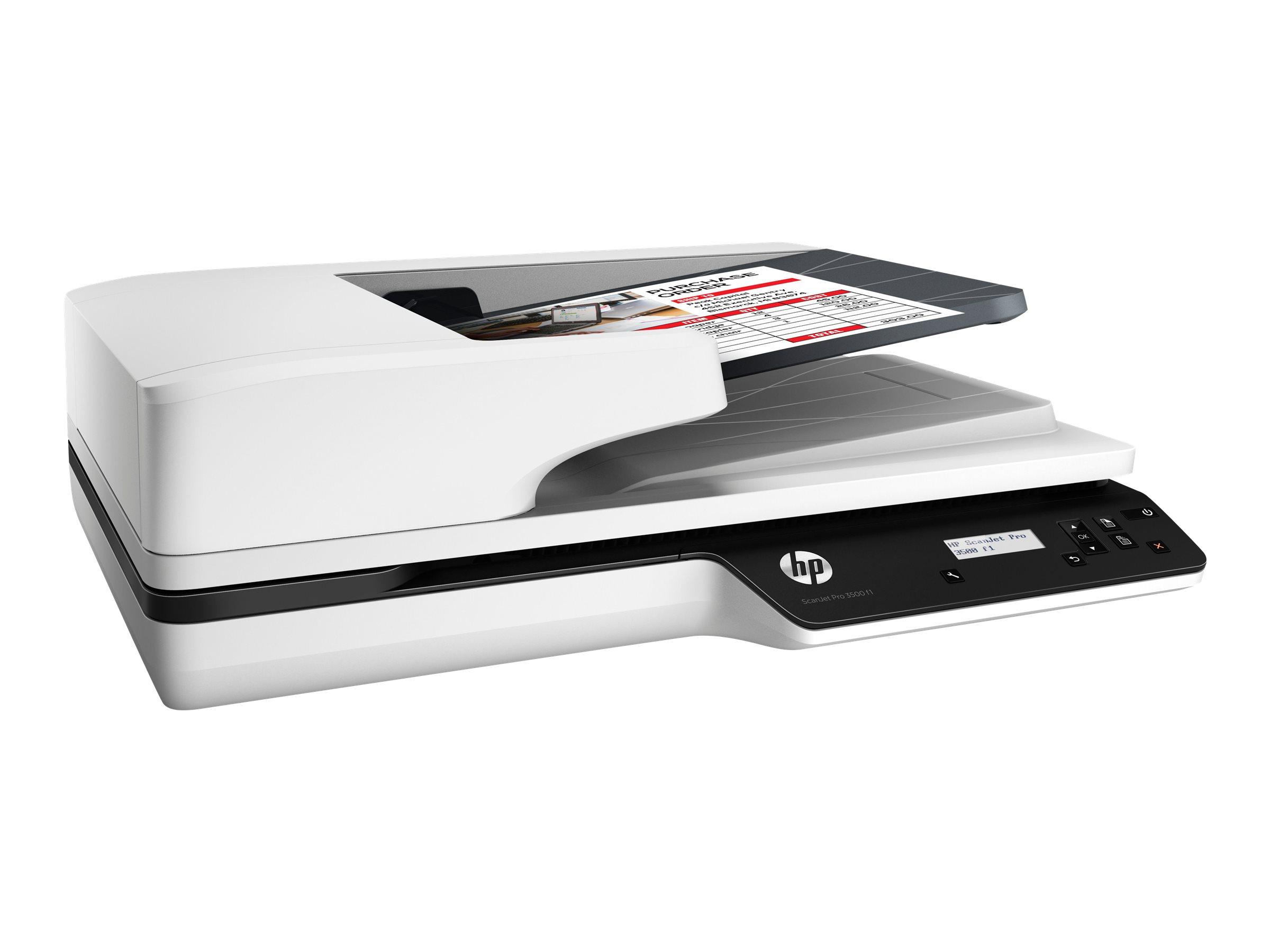 HP Scanjet Pro 3500 f1 - Dokumentenscanner - Duplex - A4/Letter - 1200 dpi x 1200 dpi - bis zu 25 Seiten/Min. (einfarbig)