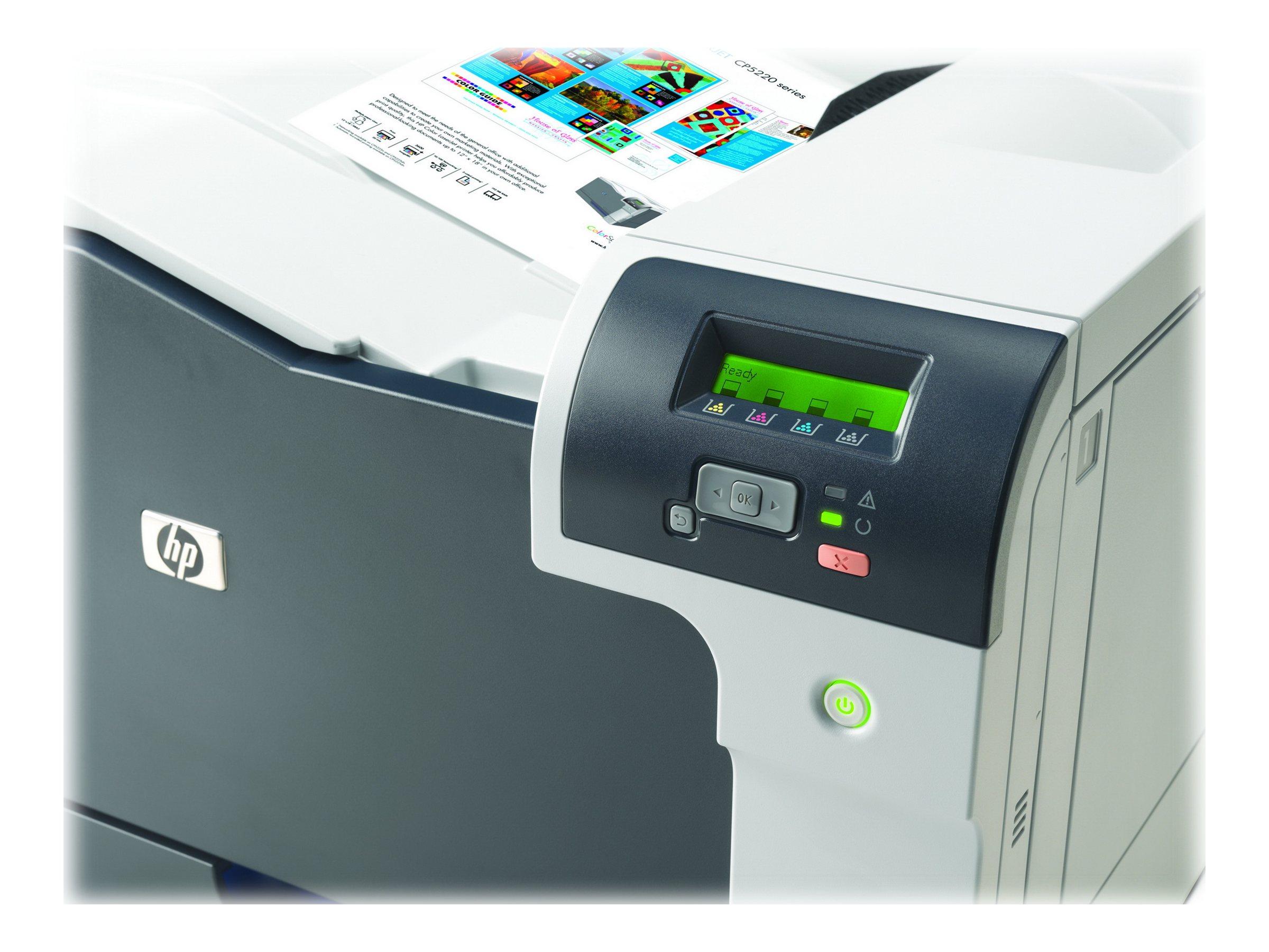 HP Color LaserJet Professional CP5225n - Drucker - Farbe - Laser - A3 - 600 dpi - bis zu 20 Seiten/Min. (einfarbig)/