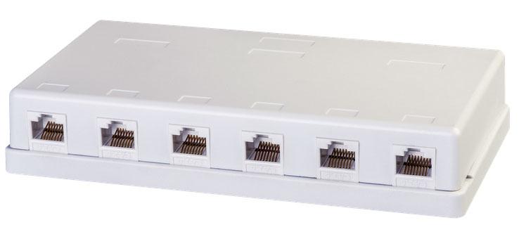 Lindy Installationskasten Netzwerkoberfläche - RJ-45 X 6 - Abdeckung mit einer Aussparung