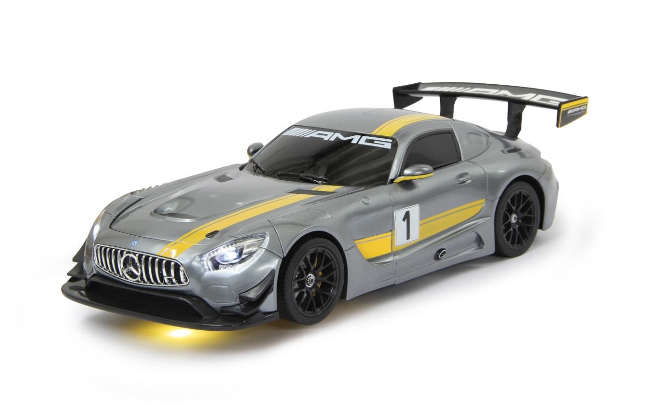JAMARA Mercedes AMG GT3 - On-Road-Rennwagen - Elektromotor - 1:14 - Betriebsbereit (RTR) - Silber - Gelb - 6 Jahr(e)
