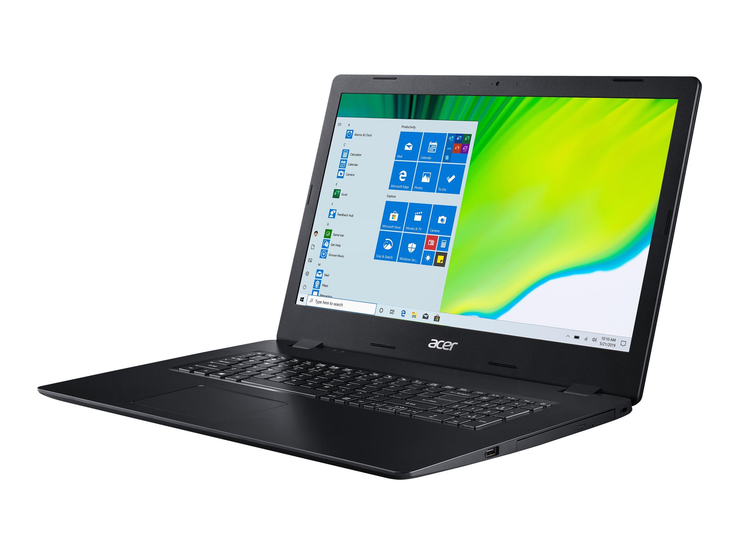 "Acer Aspire 3 A317-52-56FD - Core i5 1035G1 / 1 GHz - Win 10 Pro 64-Bit - 8 GB RAM - 512 GB SSD NVMe, QLC - DVD-Writer - 43.9 cm (17.3"")"