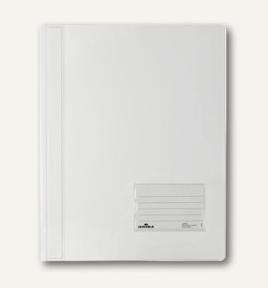 Durable Schnellhefter transluzent - A4 - PVC - Weiß - Porträt - 1 Taschen - 57 x 90 mm