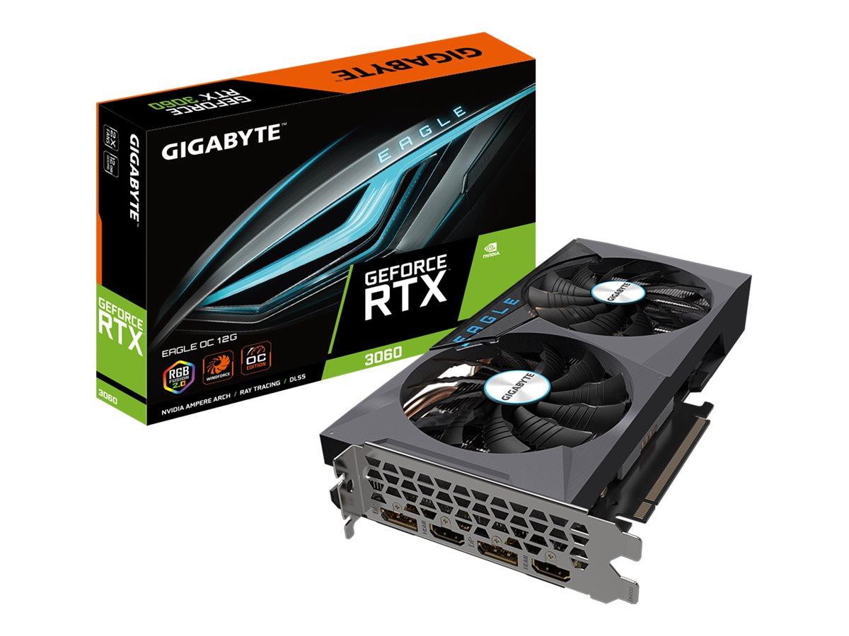 Vorschau: Gigabyte GeForce RTX 3060 EAGLE OC 12G - OC Edition