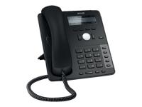 D712 Schwarz Kabelgebundenes Mobilteil 4Zeilen IP-Telefon
