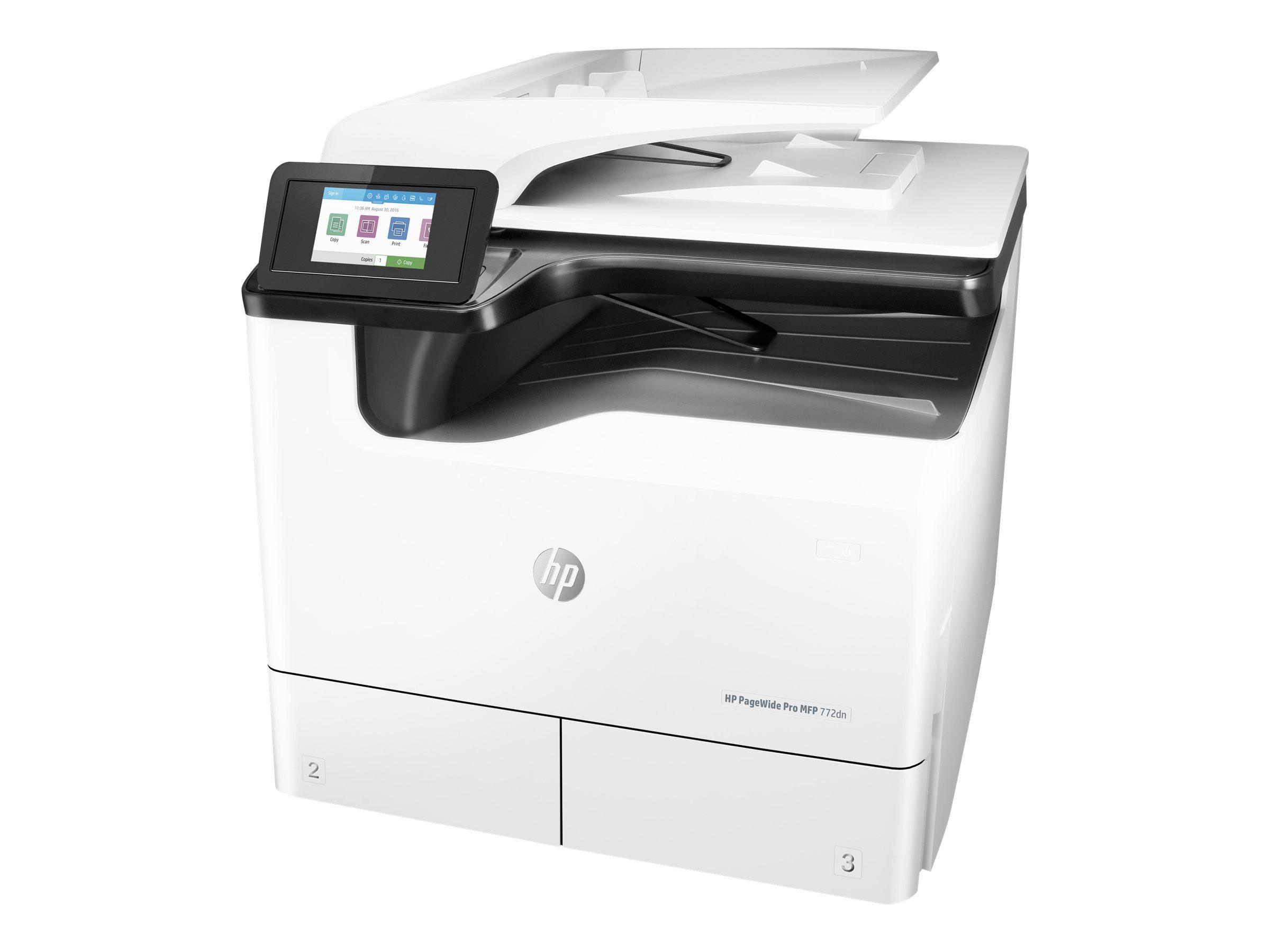 HP PageWide Pro 772dn - Multifunktionsdrucker - Farbe - seitenbreite Palette - A4 (210 x 297 mm)