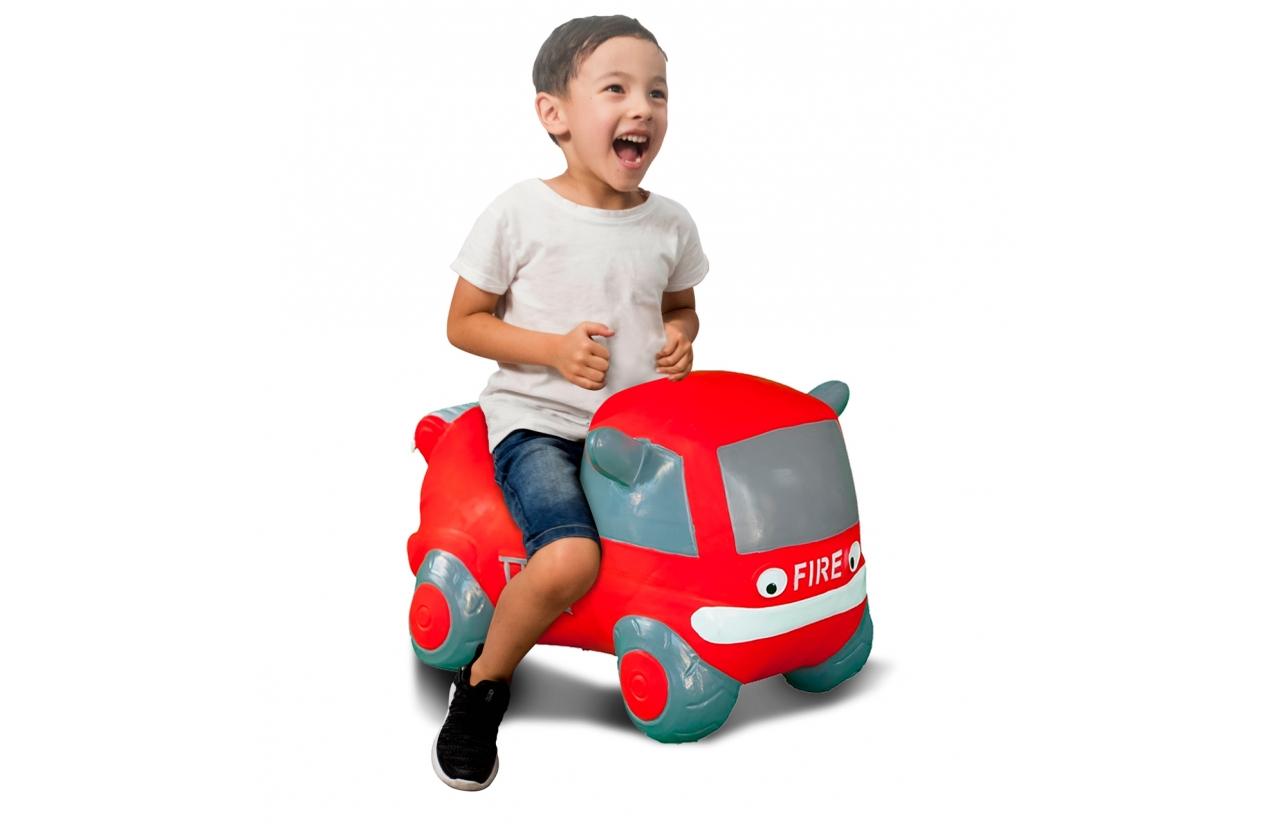 JAMARA Jumping Car Bouncer Fire Truck - Junge/Mädchen - 1 Jahr(e) - Grau - Rot - 1,5 kg