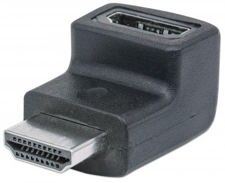 Manhattan HDMI-Adapter - HDMI (M) bis HDMI (W) - 90° Stecker, 4K Unterstützung