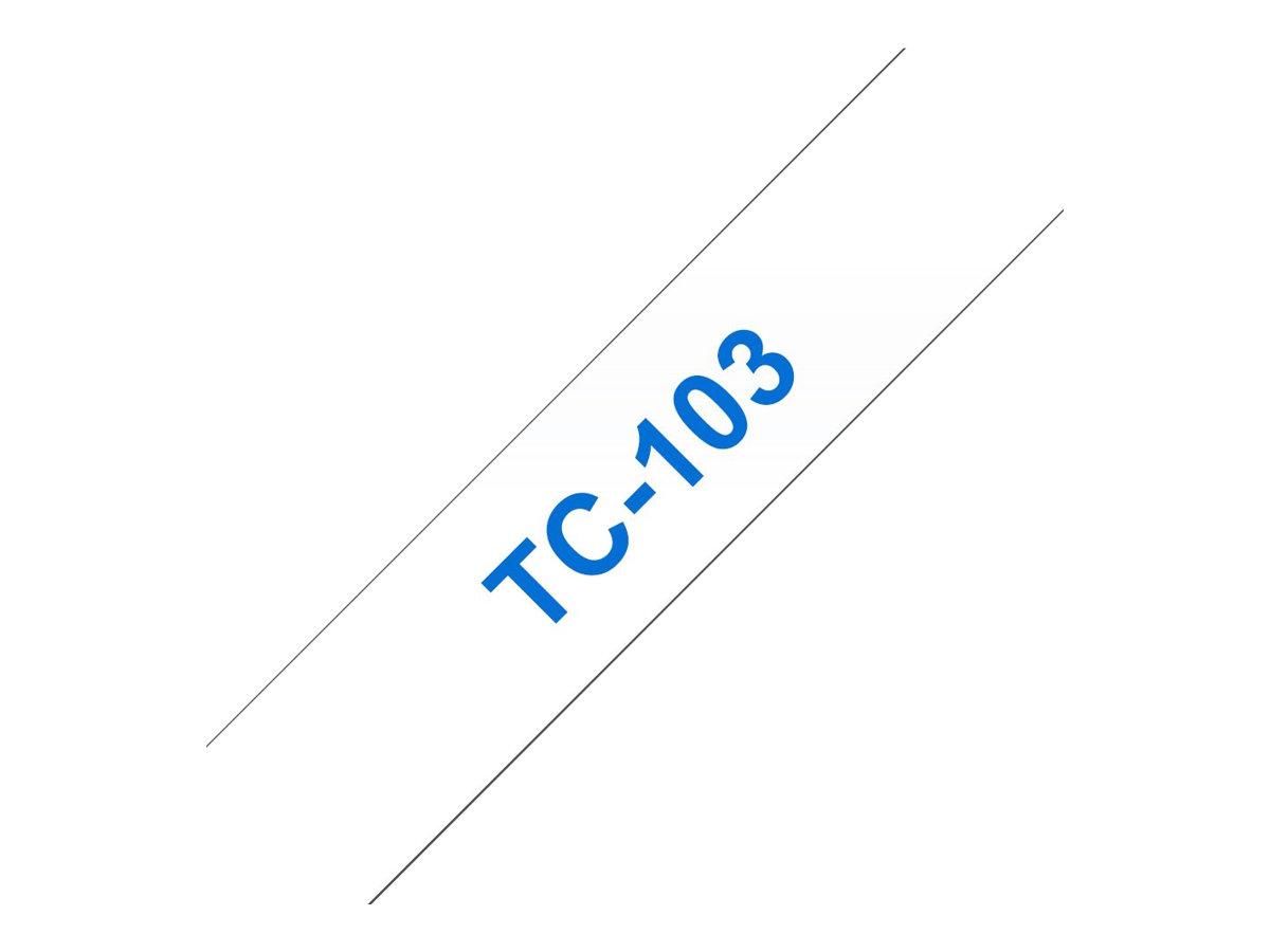 Brother TC103 - 12 mm x 7.7 m - blau auf durchsichtig