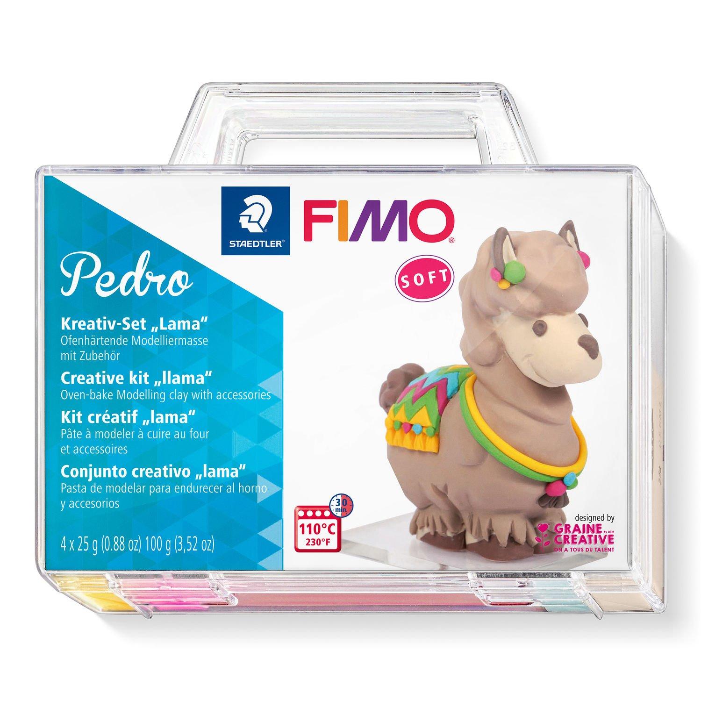 Vorschau: STAEDTLER FIMO Pedro - Modellierton - Beige - Blau - Violett - Gelb - 4 Stück(e) - 4 Farben - 110 °C - 30 min