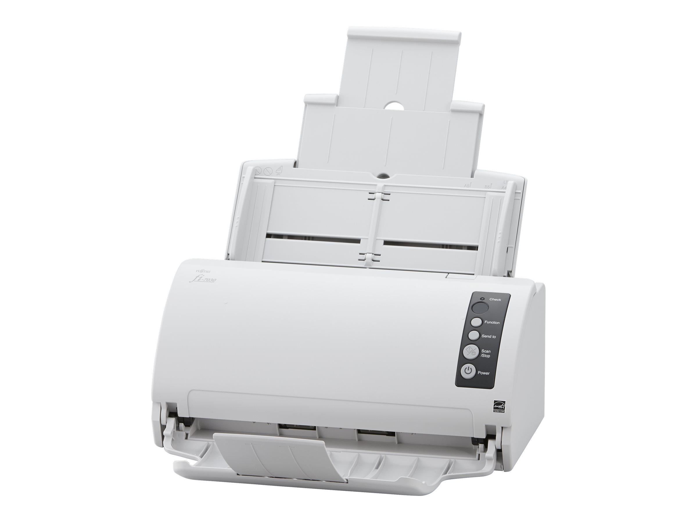 Fujitsu fi-7030 - Dokumentenscanner - Dual CCD - Duplex - 216 x 355.6 mm - 600 dpi x 600 dpi - bis zu 27 Seiten/Min. (einfarbig)