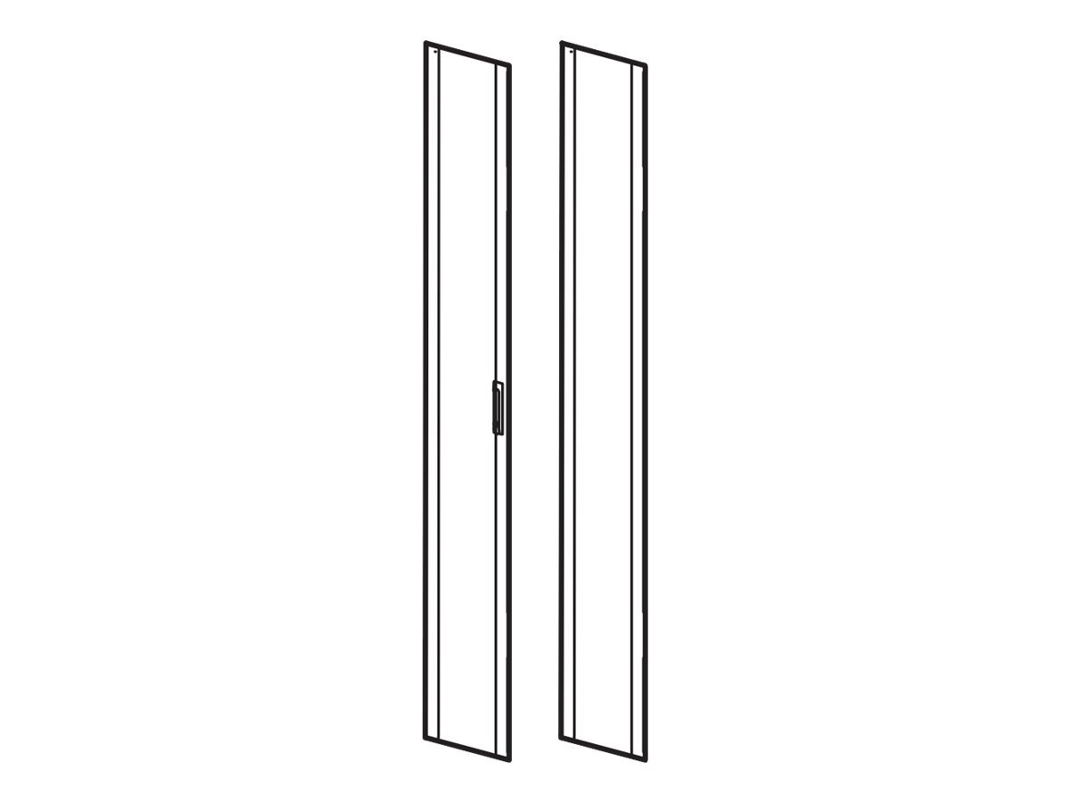 APC NetShelter SX - Rack-Tür - Grau - 42HE - für P/N: SMX2000LVNCUS
