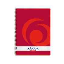 Herlitz 297531 - Collegeblock x-book - DIN A5 - kariert - 80 Blatt - Rot