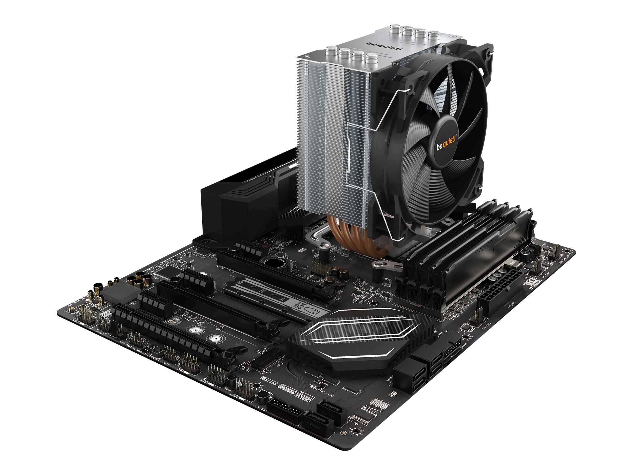 Vorschau: Be Quiet! Pure Rock 2 - Prozessor-Luftkühler - (für: AM3, LGA1155, AM3+, LGA1150, LGA1151, LGA2011-3 (Square ILM)