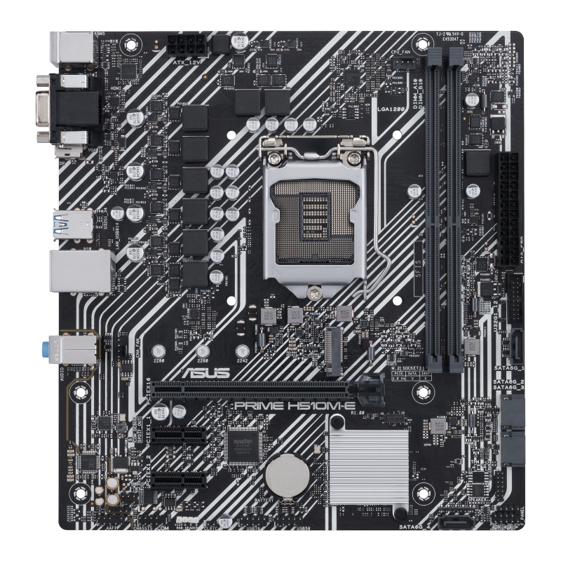 ASUS PRIME H510M-E - Motherboard - micro ATX - LGA1200-Sockel - H510 - USB 3.2 Gen 1 - Gigabit LAN - Onboard-Grafik (CPU erforderlich)