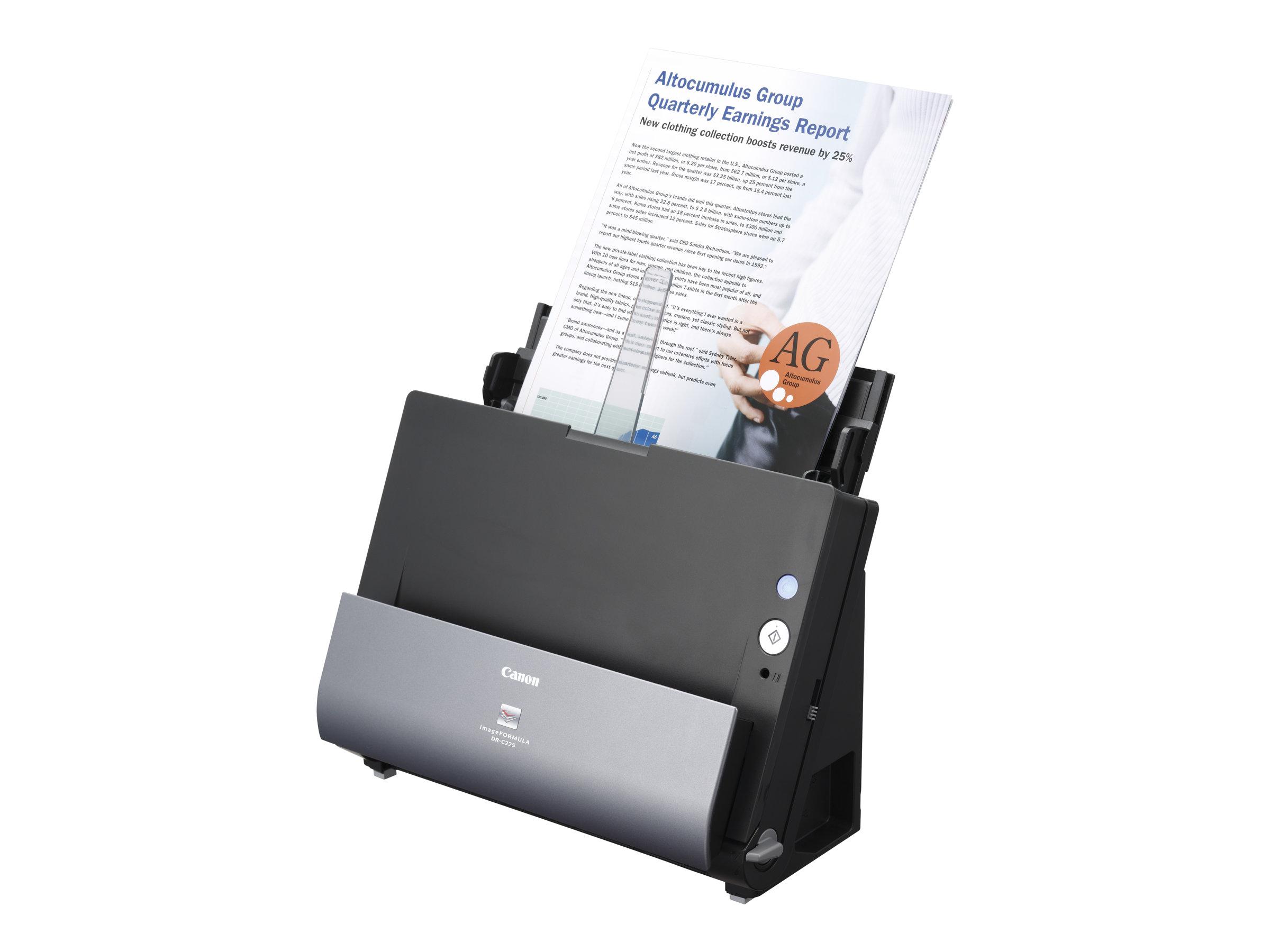 Canon imageFORMULA DR-C225W II - Dokumentenscanner - Duplex - 600 dpi x 600 dpi - bis zu 25 Seiten/Min. (einfarbig)
