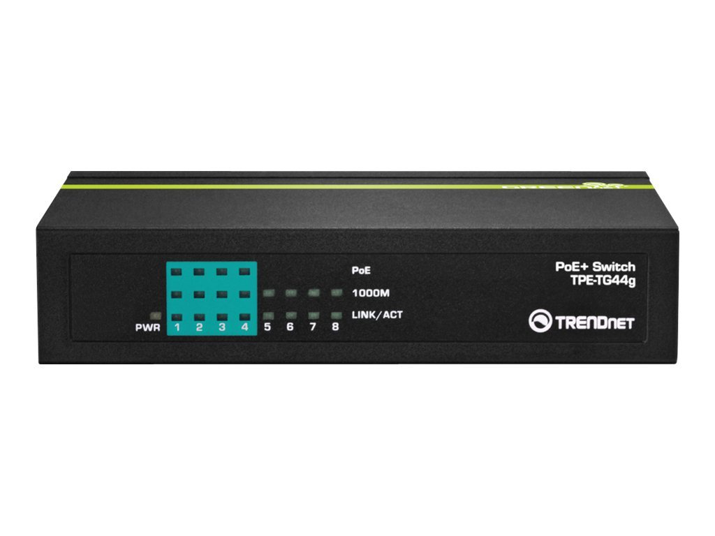 TRENDnet TPE TG44g - Switch - 4 x 10/100/1000 (PoE+)