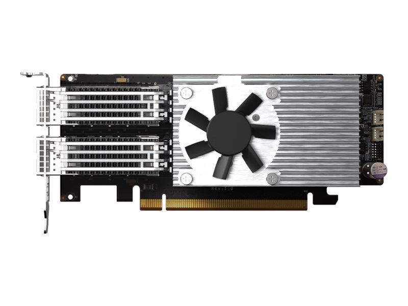 Vorschau: QNAP QXG-100G2SF-E810 - Netzwerkadapter - PCIe 4.0 x16 Low-Profile