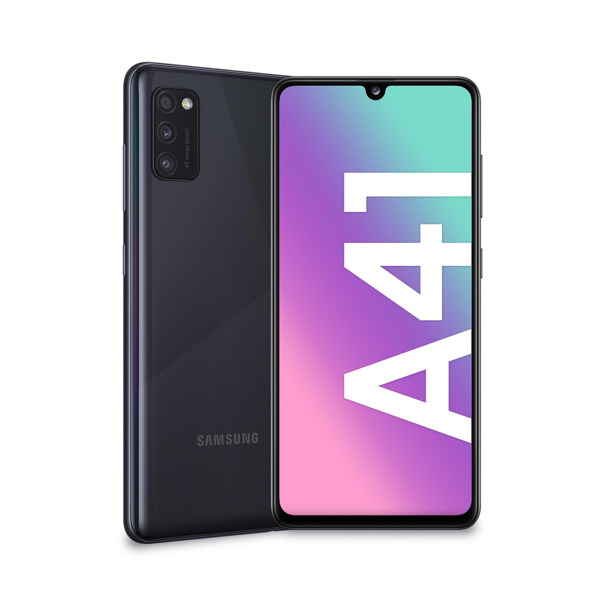 Samsung Galaxy A41 SM-A415F/DSN - 15,5 cm (6.1 Zoll) - 1080 x 2400 Pixel - 4 GB - 64 GB - 48 MP - Schwarz