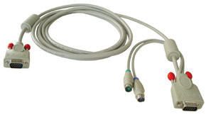 Lindy Combined KVM Cable - Tastatur- / Video- / Maus- (KVM-) Kabel - HD-15 (M)