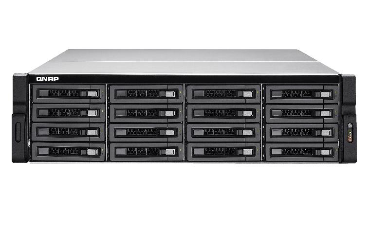 QNAP TS-EC1680U R2 NAS Rack (3U) Eingebauter Ethernet-Anschluss Schwarz - Grau