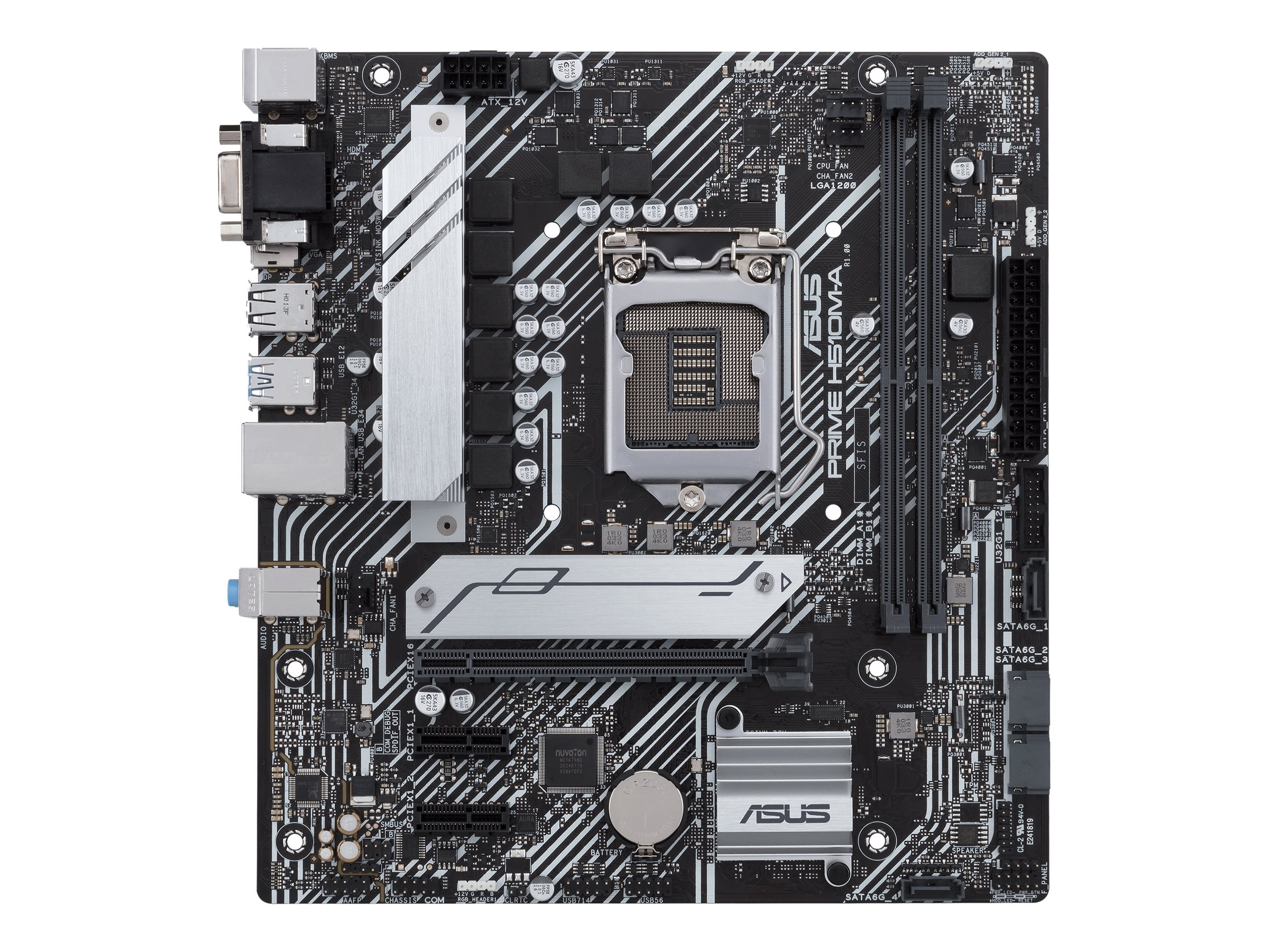 Vorschau: ASUS PRIME H510M-A - Motherboard - micro ATX - LGA1200-Sockel - H510 - USB 3.2 Gen 1 - Gigabit LAN - Onboard-Grafik (CPU erforderlich)