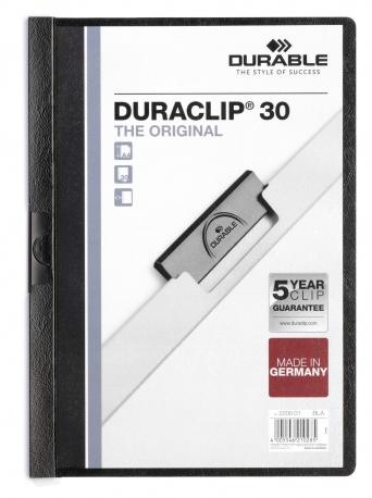 Durable DURACLIP 30 - Schwarz - Transparent - PVC - 30 Blätter - A4 - 1 Stück(e)