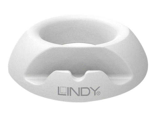 Lindy Aufstellung für Tablett - Silikongummi - weiß - Bildschirmgröße: bis zu 27,9 cm (bis zu 11 Zoll)