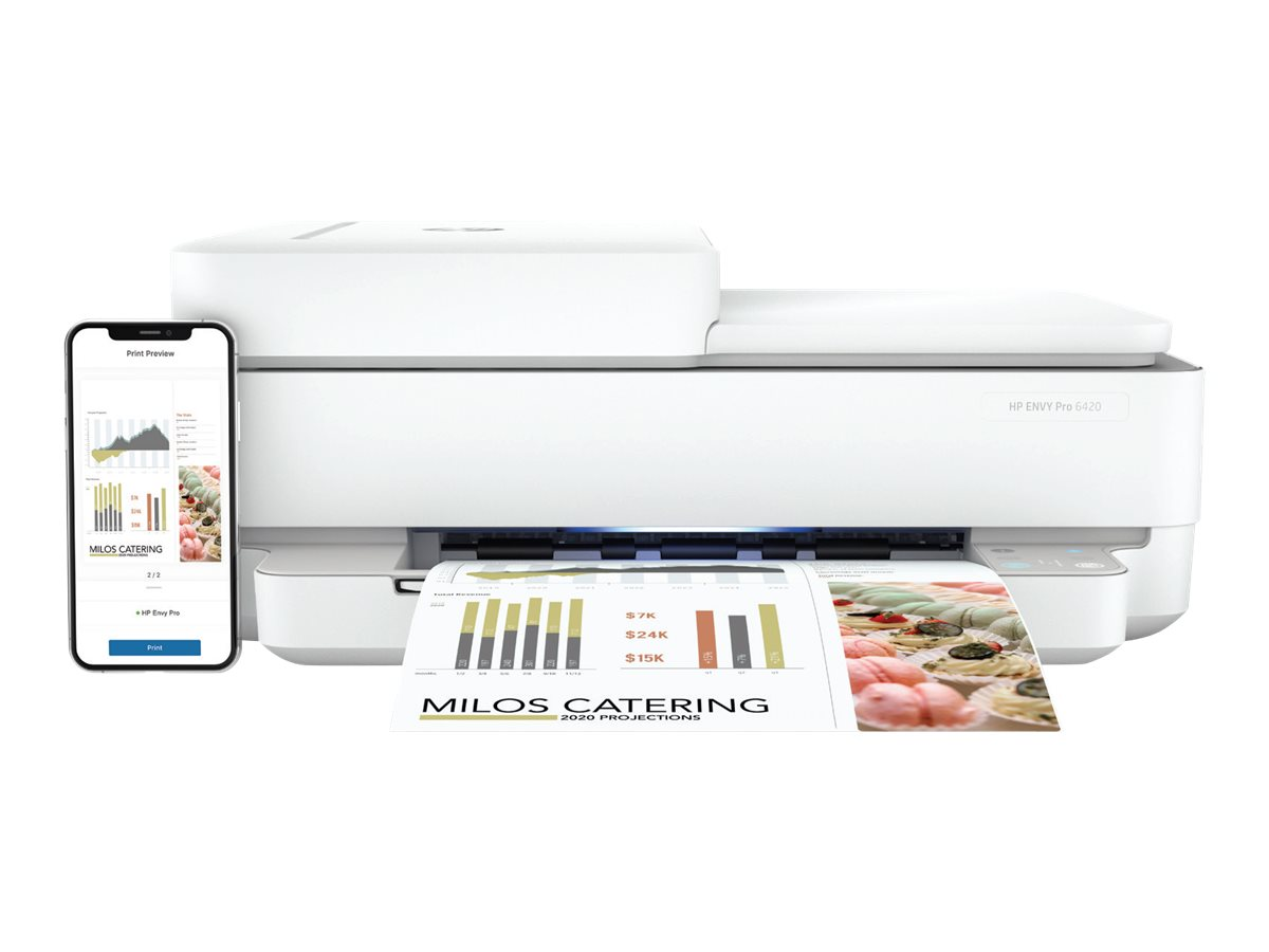 HP ENVY Pro 6420 All-in-One - Multifunktionsdrucker - Farbe - Tintenstrahl - Legal (216 x 356 mm)