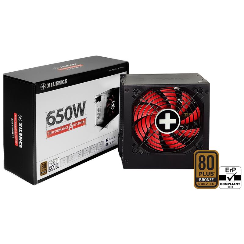 Xilence Performance A+ XN084 - 650 W - 200 - 240 V - 50/60 Hz - 6.3 A - Aktiv - 20 A