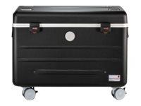 Case N10 - Multimedia-Wagen - Schwarz - Acrylnitril-Butadien-Styrol (ABS) - Aluminium - Schaum - Notebook - 39,6 cm (15.6 Zoll) - 2 Schublade(n)