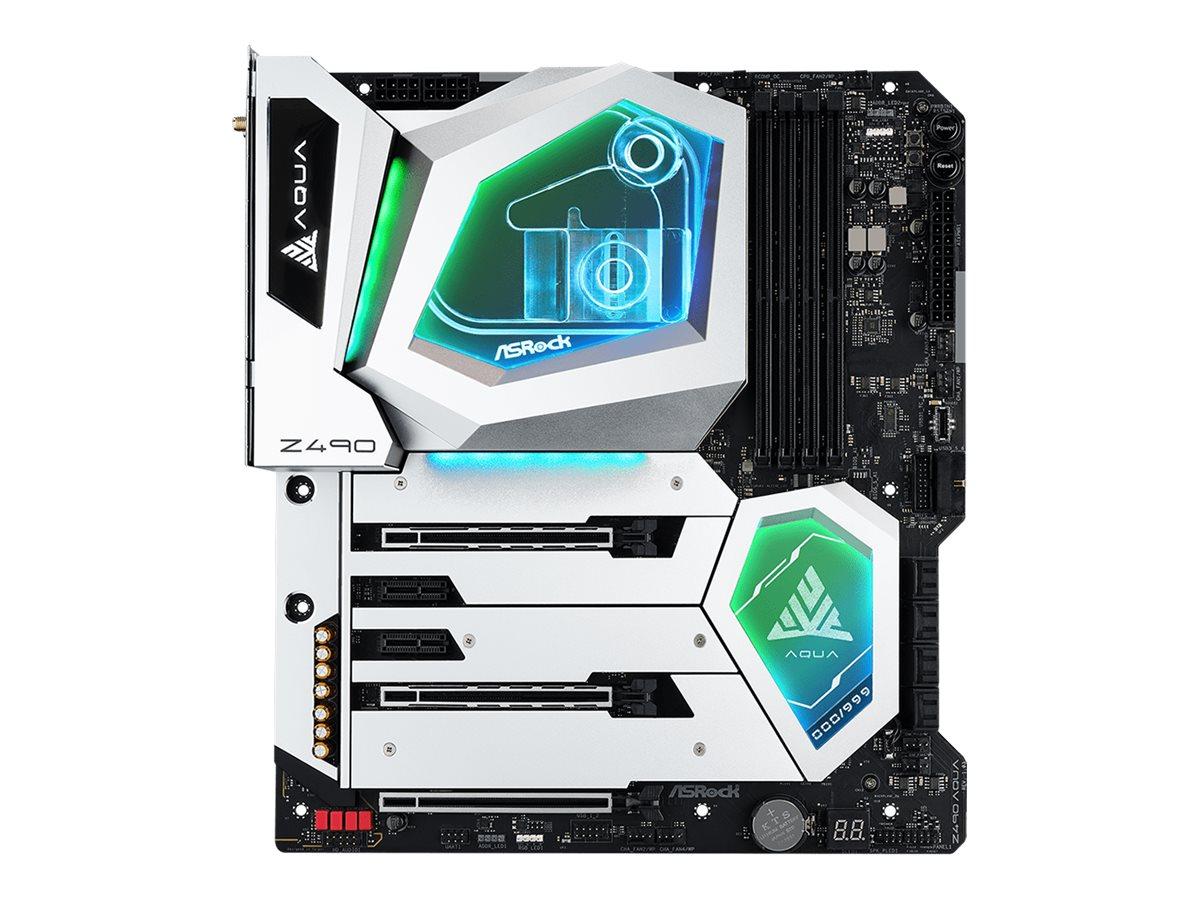 ASRock Z490 AQUA - Motherboard - Erweitertes ATX - LGA1200-Sockel - Z490 - USB-C Gen2, USB 3.2 Gen 1, USB 3.2 Gen 2 - 10 Gigabit LAN, 2.5 Gigabit LAN, Wi-Fi, Bluetooth - Onboard-Grafik (CPU erforderlich)